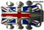 GUITAR HEAD UNION JACK - Belt Buckle + display stand
